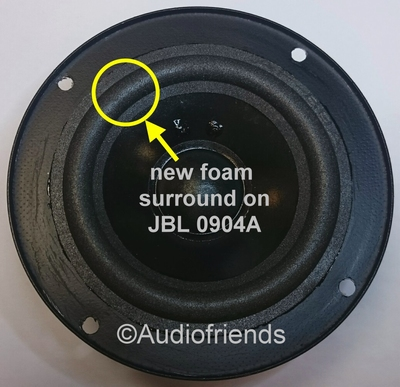 1 x Foam surround for repair of midrange JBL A0904A