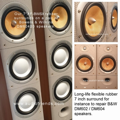 6 x RUBBER surround for Bowers & Wilkins Sorrento