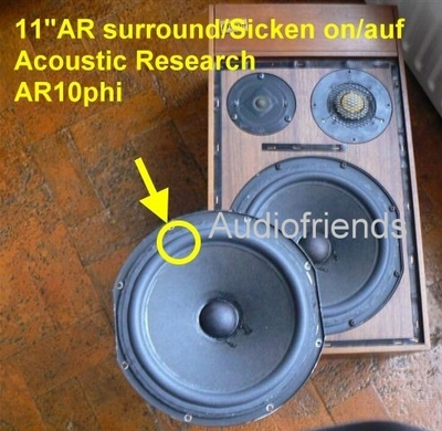 1 x Foam surrounds for 11 inch AR 3a, 9, 10, 11, LST. etc.