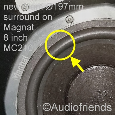 1 x Foam surround genuine 8 inch Magnat MC202, MG251, MC210