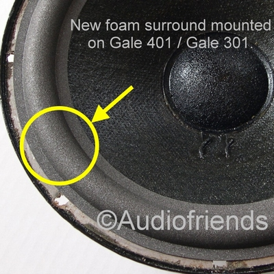 1 x Foam surround for woofer Gale 401 / 401a / GS401a