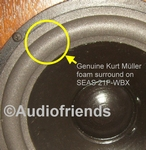 1 x Foam surrounds for repair Seas 21F-WBX speaker