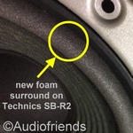 Repairkit foam surrounds for Technics SB-R2 speaker