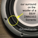 1 x RUBBER surround for Bowers & Wilkens 6,5 inch woofer