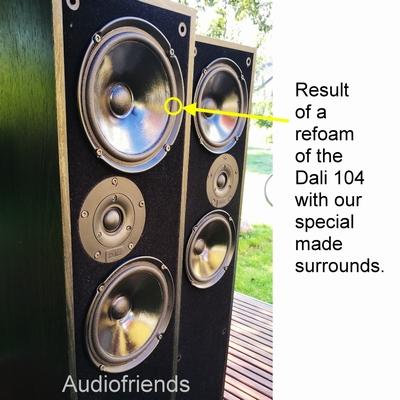 Dali 104 - 4 x Foamrand voor reparatie luidspreker