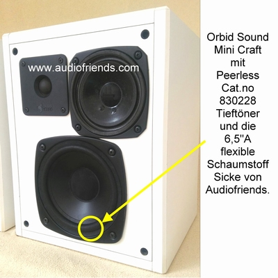 1 x Schaumstoff Sicke für Orbid Sound Pluto, Mini Craft