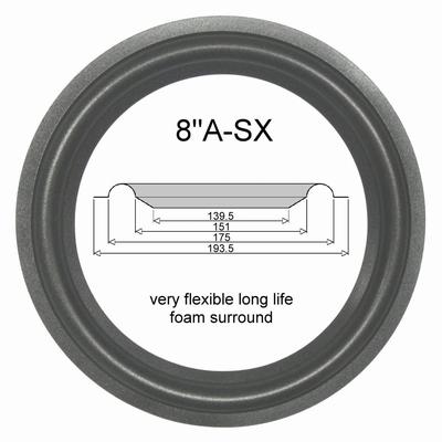 1 x Foam surround for repair Orbid Sound Venus