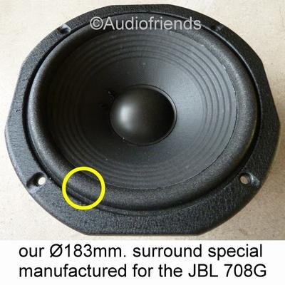 10 x Foamrand voor reparatie JBL L5 - 708G-1 / 708G-2