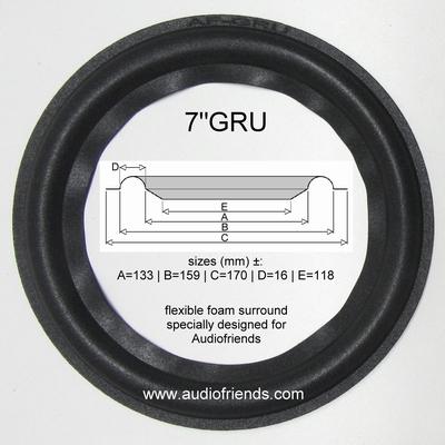 """1 x Schaumstoff Sicke für verschiedene Heco 7"""" Lautsprechern"""