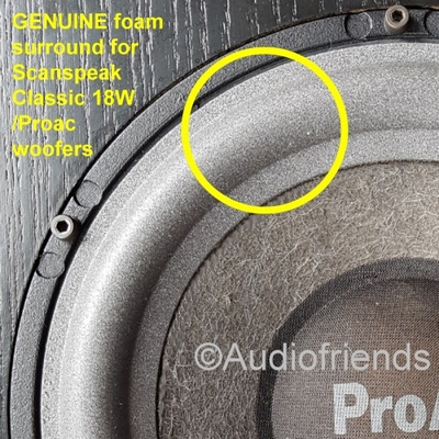 1 x GENUINE Foam surround Scanspeak Classic 18W-Kurt M.