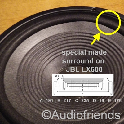 1 x Foam surround for repair JBL LX600 - A610 woofers