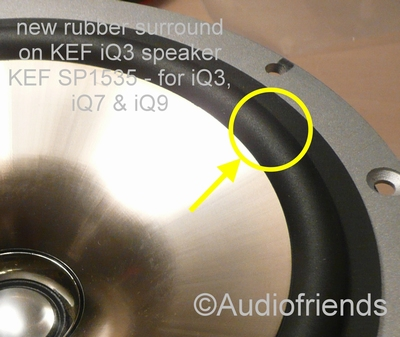 1 x RUBBER surround for KEF SP1535 for iQ3, iQ7 & iQ9