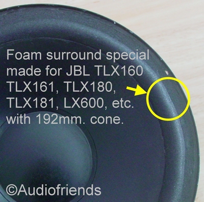 JBL TLX180 - 1x Special made foam surround for repair