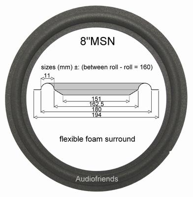 1 x Foamrand voor reparatie JBL A0908A speaker