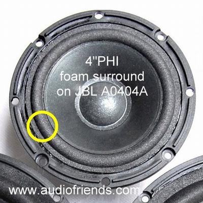 1 x Schaumstoff Sicke für JBL TI600 /  TI400 - A0404A