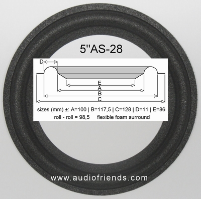 1 x Foam surround for repair JBL A0905A speaker