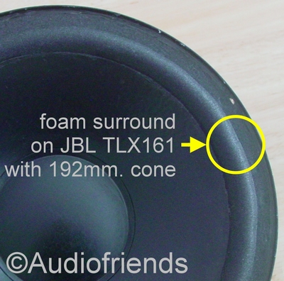 Repairkit 2 x foam surround for JBL speaker cone 192mm.