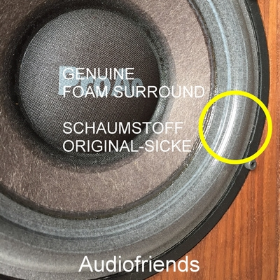 1 x Genuine foam surround for Scanspeak 18W8544 etc.