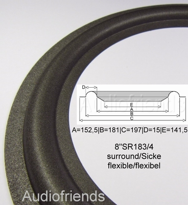1 x Foamrand for repair various Quadral 8 inch speakers