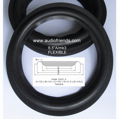 4 x Foam surround for repair Infinty RS-5 - woofer