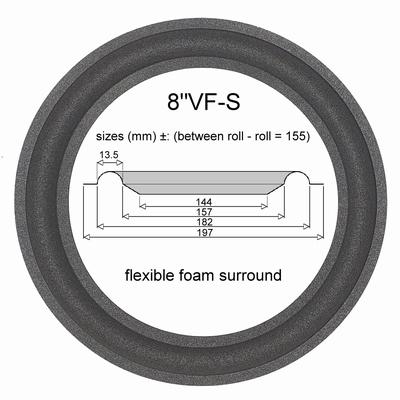 1 x Schaumstoff Sicke für Reparatur Bass JBL A0408