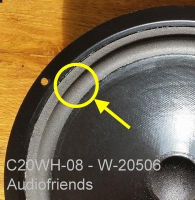 1 x Schaumstoff Sicke für Jamo CL 30 - C20WH-08 - W-20506