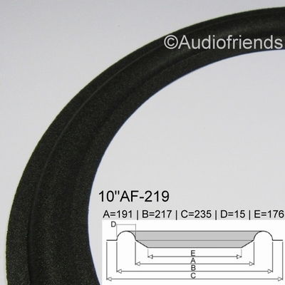 1 x Foam surround for Jamo Studio Monitor J-123 - W-250-1