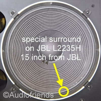 1 x Foam surround for repair JBL 15 inch L2235H woofer
