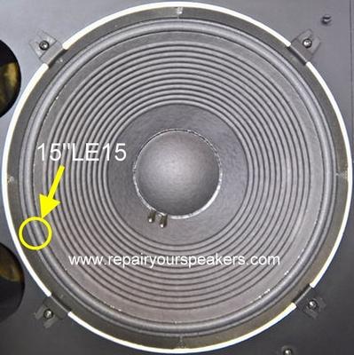 1 x Foamrand voor reparatie JBL 15 inch L2235H woofer