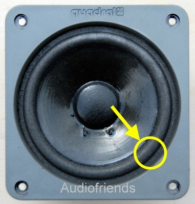 1 x Foam surround for repair Quadral 122TF midrange speaker