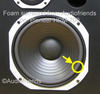 1 x Foam surround for reparatur Pioneer S-1010 speaker