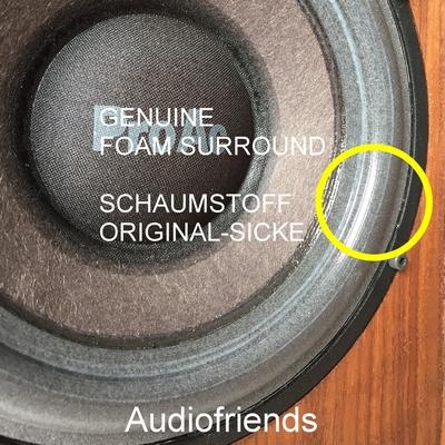 1 x 'GENUINE' Schaumstoff Sicke für Proac Studio 1, 1mk2