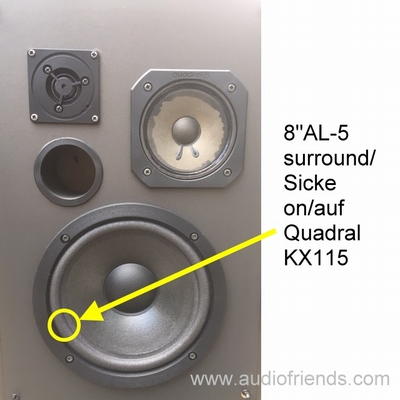 1 x Foam surround for Quadral Allsonic SL175, SL175mk2