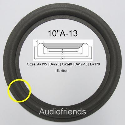 1 x Schaumstoff Sicke Bass Bang & Olufsen MS150, MS150-2