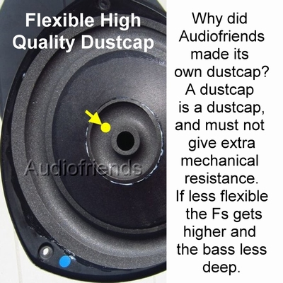 1 x Dustcap (donut) for repair KEF RR102, RR102.2
