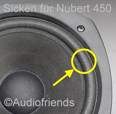 1 x 10 Zoll Schaumstoff Sicke für Reparatur Nubert 690
