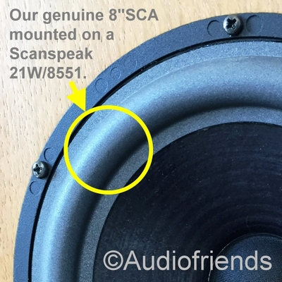 Genuine foam surround for Scanspeak 21W/8551 woofer etc.