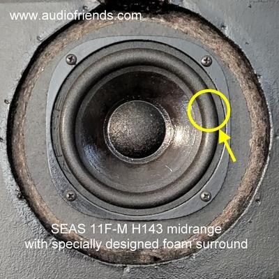 1 x Schaumstoff Sicke für Synthese 3 - Seas 11 F-M H143
