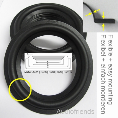 40 x RUBBER surrounds Bang & Olufsen C30,C40,CX50,C75,CX100