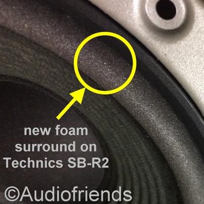 Reparatursatz Schaumstoff für Technics SB-R2 speaker