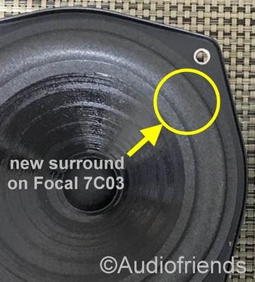 Focal 7C03 - 1x Schaumstoff Sicke für Reparatur speaker