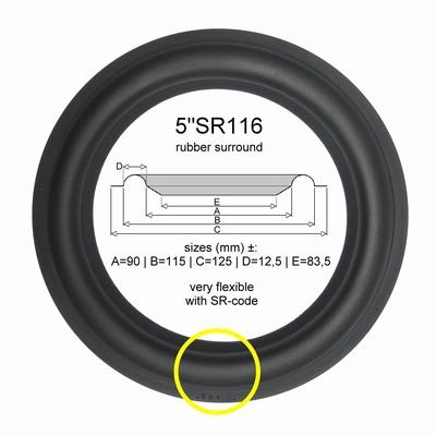 1 x RUBBER rand voor Focal 5N300, 5N312 speaker