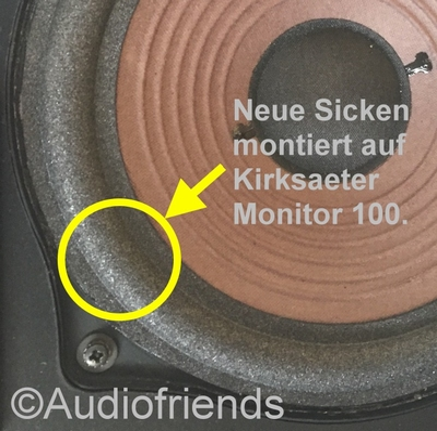 Reparatieset foam voor Kirksaeter Monitor 100 speaker