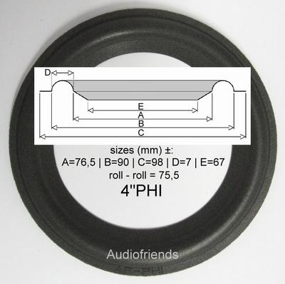 1 x Schaumstoff Sicke Reparatur Visonik 5001 Lautsprecher