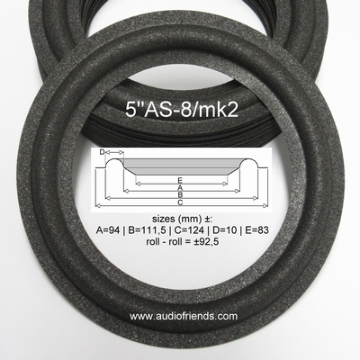 1 x Foam surround for repair Philips F9312 woofer