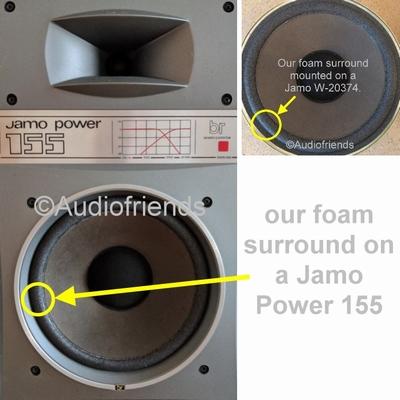 1 x Schaumstoff Sicke für Jamo Power 120, 130 woofer