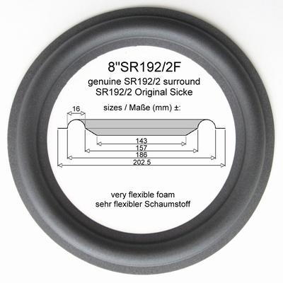 1 x ORIGINELE foamrand (genuine) voor Dynaudio MSP 300
