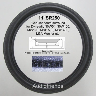 4 x GENUINE foam surround for Dynaudio M3A Monitor woofers