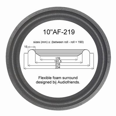 1 x Foamrand voor reparatie JBL ATX-60 - A0910A woofer