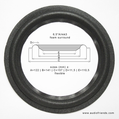 1 x Schaumstoff Sicke für JBL ATX-40 - A0906A Tieftöner